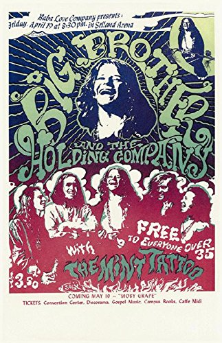 Janis Joplin Poster 1969 NEW Big Brother & the Holding Company Concert Handbill 11x17