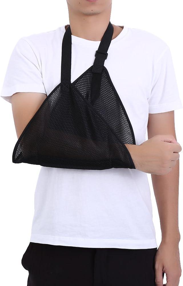 Cabestrillo para brazo dislocado, cabestrillo para brazo, vendaje para hombro, cabestrillo acolchado con diseño de hebilla, inmovilizador de hombro, muñeca, codo, brazo, cabestrillo(blanco)