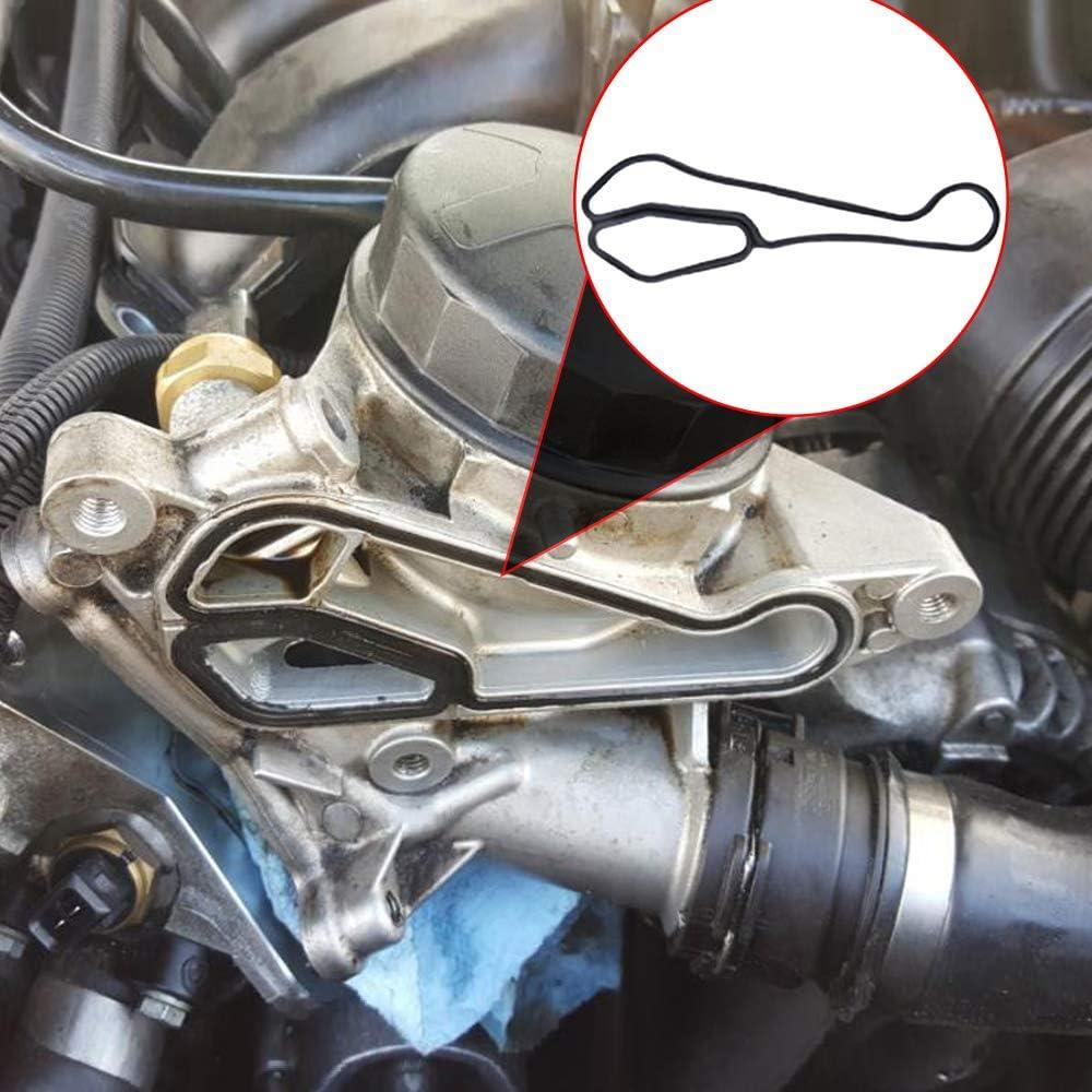 Aramox Oil Filter Gasket,Engine Oil Filter Housing Seal Gasket Cooler Seals for 11427525335 11427537293
