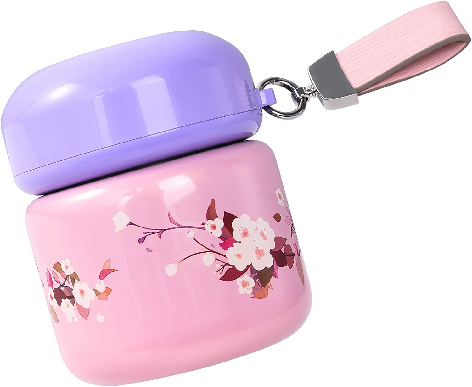 Insulated Lunch Container Hot Food Jar 18 oz Stainless Steel Vacuum Bento Lunch Box for Kids Adult with Spoon Leak Proof Hot Cold Food for School Office Picnic Travel Outdoors - pink