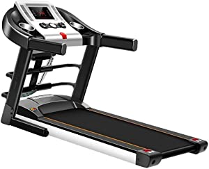CffdoiPBJI Folding Ttreadmill, Treadmill Home with Bluetooth Audio, Small Folding Indoor Electric Walking Machine, Special for Ultra-Quiet Gym, with Massage Machine, Sit-up Function