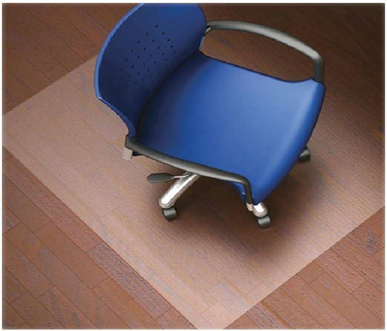 Lorell Nonstudded Design Hardwood Surface 48 x 36-Inch Vinyl Chair Mat, Clear: Kitchen & Dining