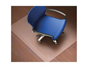 Lorell Nonstudded Design Hardwood Surface 48 x 36-Inch Vinyl Chair Mat, Clear