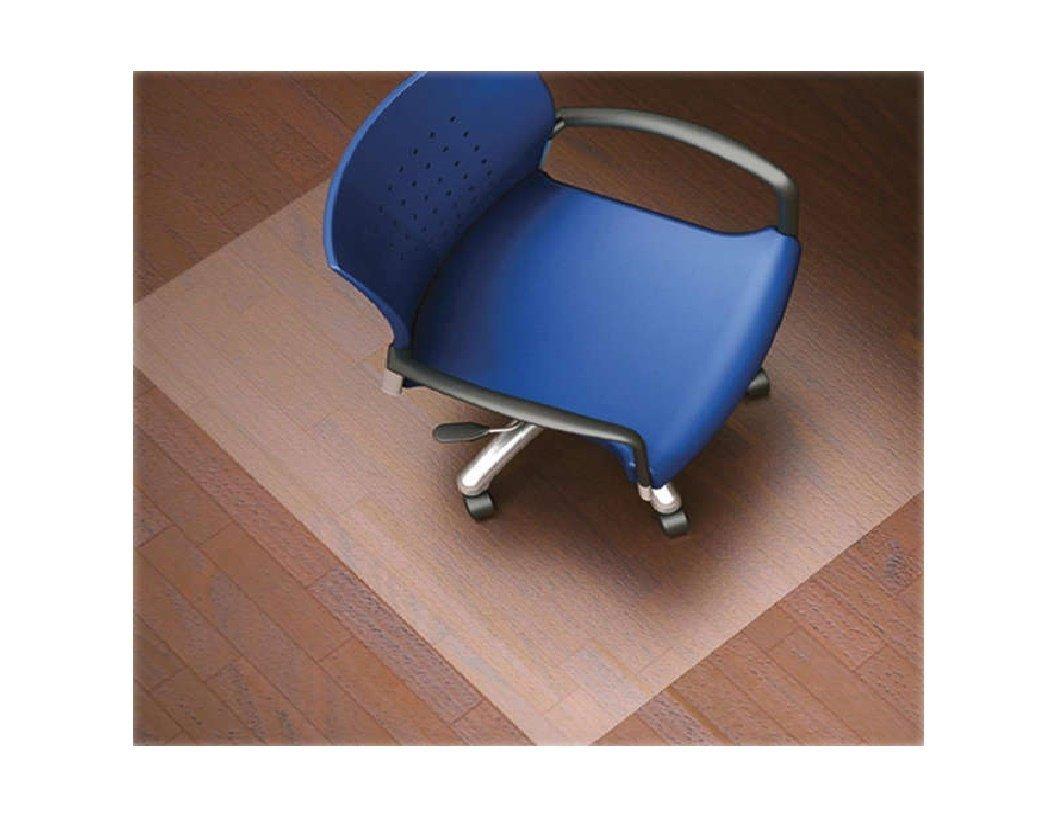 Lorell LLR82825 Nonstudded Design Hardwood Surface 48 x 36-Inch Vinyl Chair Mat, Clear