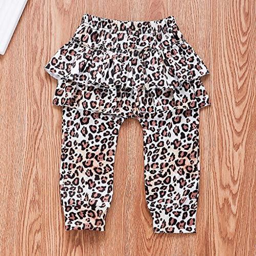 Zegeey Kleinkind Baby Sweatshirt Langarm Hose Leopardenmuster Haarband Outfit Bekleidungssets M/äDchen Geburtstag Geschenk