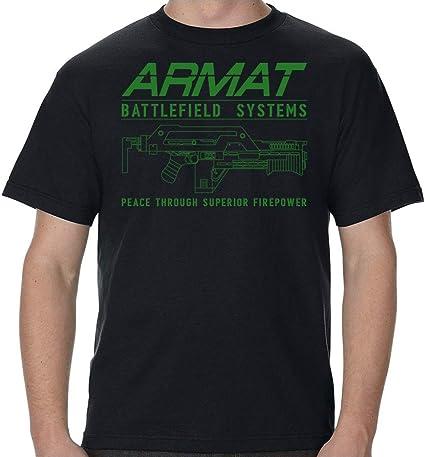 Armat Systems M41A Pulse Rifle Logo Green Print Adult T-Shirt