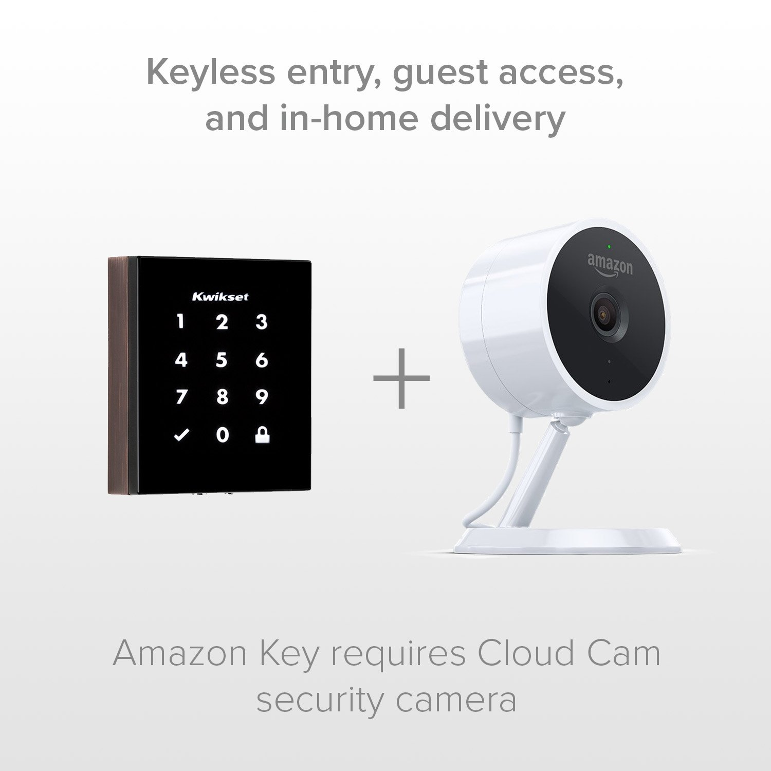 Kwikset Obsidian Keyless Touchscreen Electronic Deadbolt (Amazon Key Edition - Amazon Cloud Cam required) in Venetian Bronze - - Amazon.com
