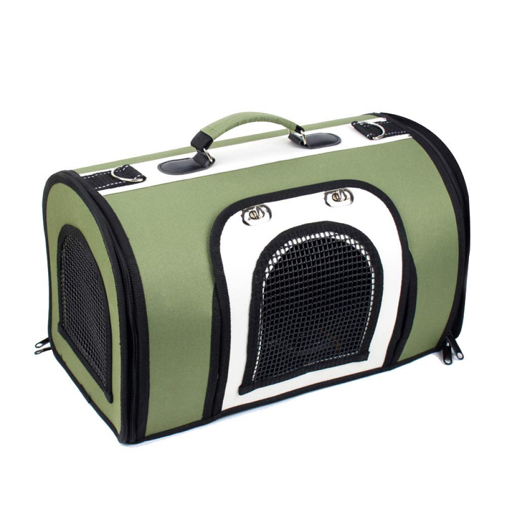 Green+white Large Green+white Large Rising S Pet Travel Bag,pet Backpack For Dogs Pet Backpack Carrier For Small Dogs Breathable Folding Waterproof Handbag Shoulder Travel Pet Backpack Carrier,Green+white-L
