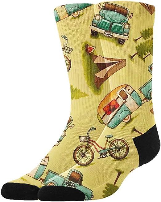 Adult Motorbike Bikers Man Pattern Cushion Ankle Socks