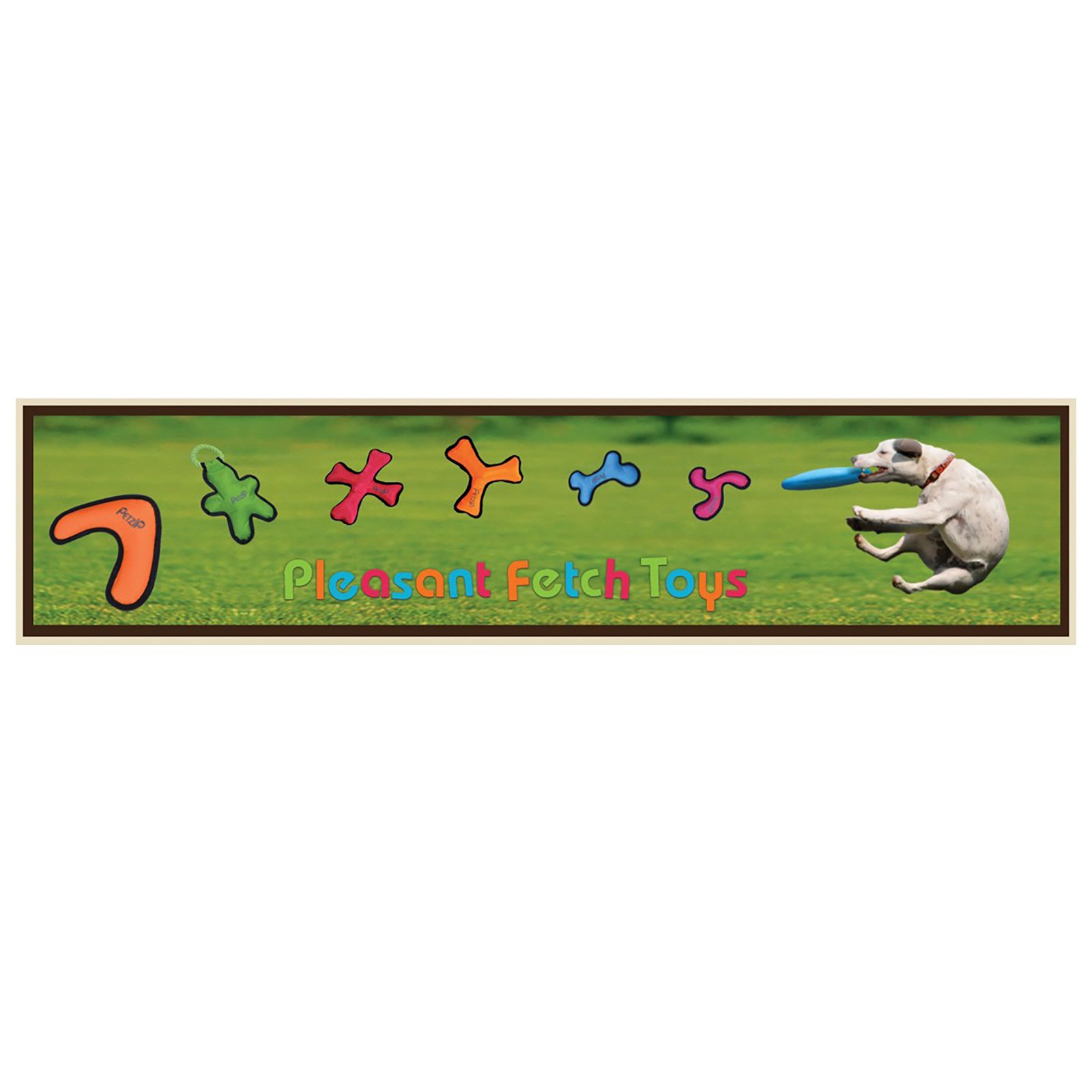 Petzip Tribone Pet Fetch Toy, Blue/Orange/Red/Green by Petzip (Image #2)