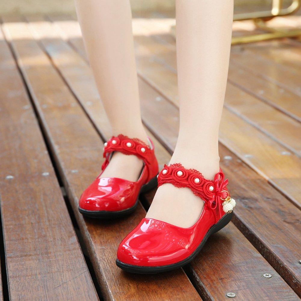 Toddler//Little Kid CYBLING Sweet Girls Fashion Flowers School Wearing Princess Shoes