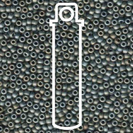 (Miyuki Round Seed Bead Size 8/0 22g-tube Matte Metallic Grey)
