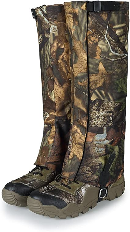 Camouflage Waterproof Snow Gaiters Leg Covers Boot Legging Wraps Hiking Climbing