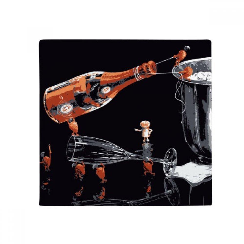 DIYthinker Glass Bootle Ice Bucket Decoration Anti-Slip Floor Pet Mat Square Home Kitchen Door 80Cm Gift