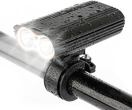 LIFEIYANM Luz De Bicicleta Recargable USB Faro Doble T6 Luz ...