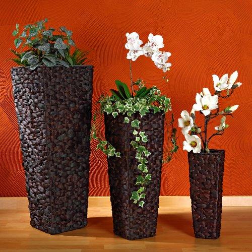 3x XXL Blumentopf Set Blumenkübel Pflanztopf Blumentopf Vase Hand Bodenvase
