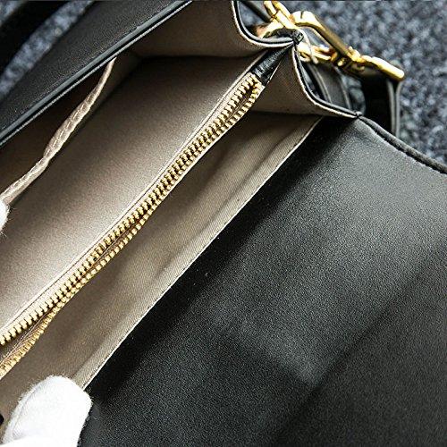 à Bandoulière Dames JPFCAK Robe Messenger Black Dos Bandoulière Main Soirée Hit Sac Cuir à De Sac En Sac Bag à Sac à Fashion Personnalité Couleur EppW5UqA