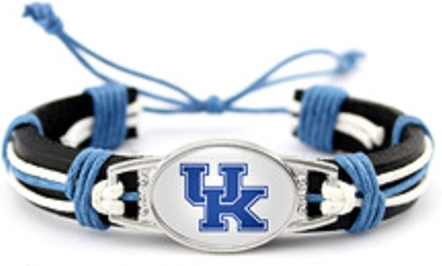 BAS Kentucky Wildcats Real Leather Adjustable Cord Tie 7 to 10