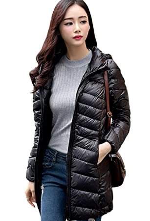 776a25ae599a Lovache Hooded Down Jacket Women Winter Warm Long Sections Down Coat ...