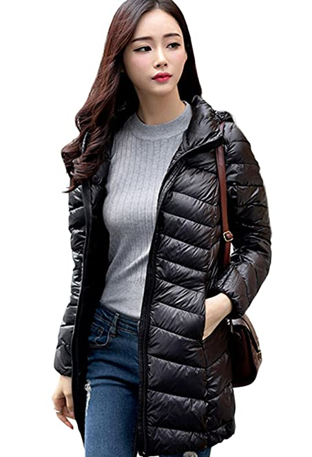Lovache Hooded Down Jacket Women Winter Warm Long Sections Down ...
