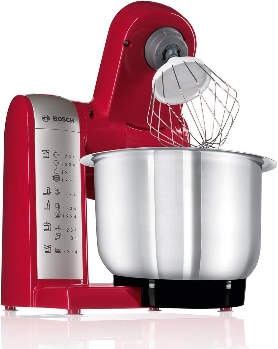 Bosch MUM48R1 Robot de Cocina 600 W, 3.9 L, 4 Velocidades, Color Rojo: Amazon.es: Hogar