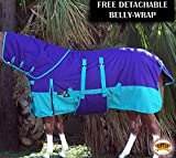 HILASON 1200D Waterproof Winter Horse Blanket Neckcover Belly Wrap