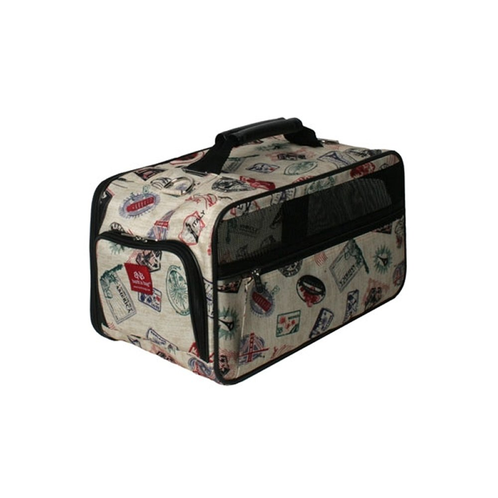 Bark-n-Bag Classic Postage Stamp Collection Pet Carrier, Large