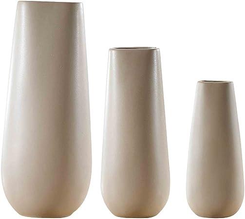 Hochzeit Zuhause 15cm // 14cm Tisch B/üro Teresas Collections Keramik Blumenvasen Herzst/ück oder als Geschenk MEHRWEG VERPACKUNG 2er Set grau dekorative Vase f/ür Wohnzimmer K/üche