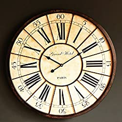 Y-Hui Roman Iron Art So The Old Decorative Wall Clock French Antique Living Room Large Wall Clock, The Other In Rome (A) Such As A Chart Pad Diameter Of 60C