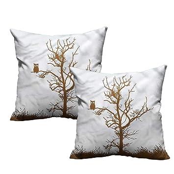 Amazon.com: HeKua - Funda de almohada con diseño de búho ...