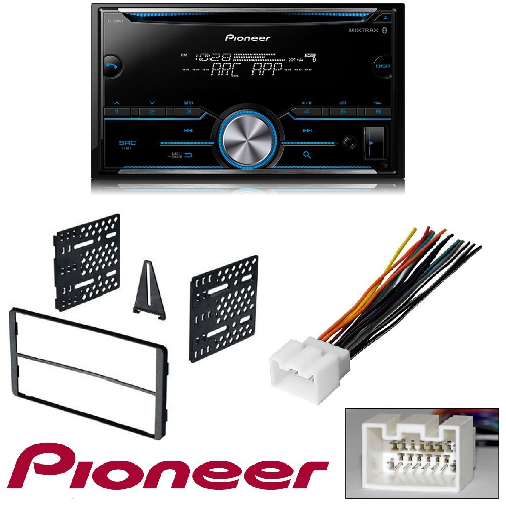 Pioneer Fh S500bt Double Din Bluetooth In Dash Cd Am Fm Amazoncom Stereo Install Kit Ford 500 06 2006 Car Radio Wiring Receiver W Pandora And Spotify Control 2