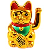 Iso Trade Gato Chino de la Suerte Dorado Maneki-Neko - símbolo de ...
