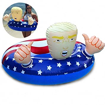 4d0005a352e4 Qwhome Donald Trump Bandera Americana Flotadores de la Piscina ...