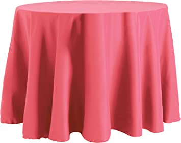 70 X 120 Inch OVAL Tablecloth, Flame Retardant Basic Polyester, Watermelon