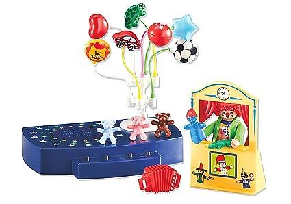 Playmobil 6448 - Fröhlicher Clown mit Kasperltheater und Musikbühne (Folienverpackung)
