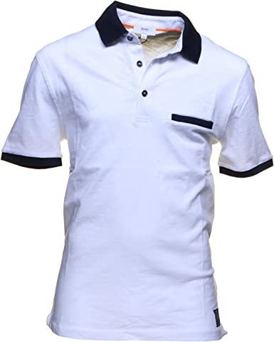 Polo Boss Enfant Blanc et Marine: Amazon.