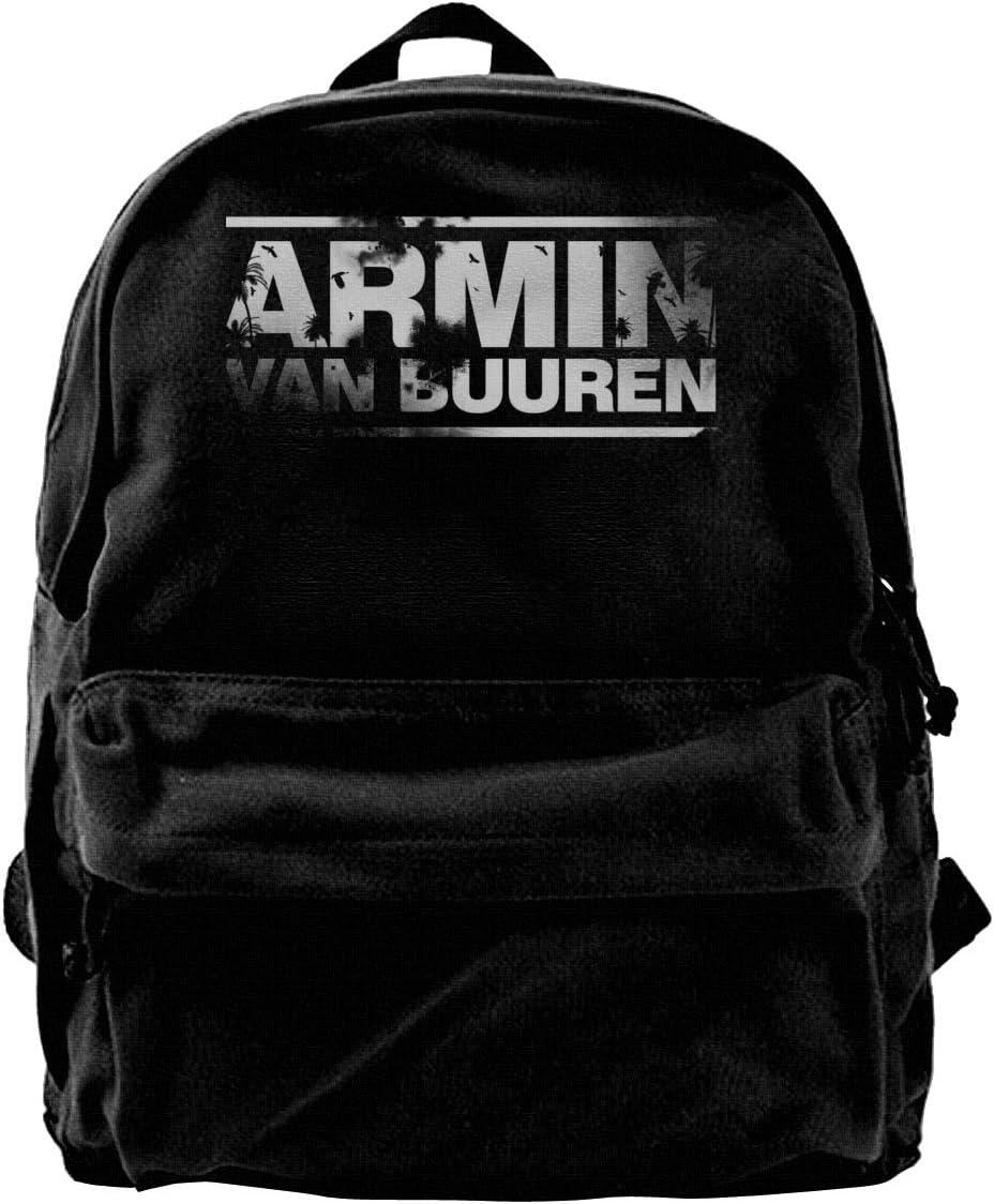 Armin Van Buuren Casual Backpacks Print Canvas Daypacks Travel College Rucksack Backpack