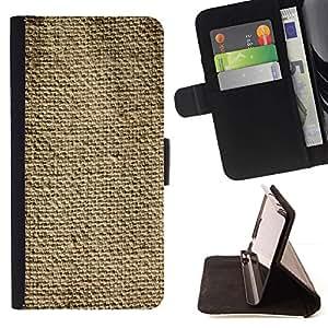 Tela rústica Moda Lino simple- Modelo colorido cuero de la carpeta del tirón del caso cubierta piel Holster Funda protecció Para Samsung Galaxy S5 V SM-G900