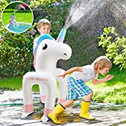 Sprinkler for Kids, Unicorn Toys for Baby Pool, Inflatable Sprinkler Water Toys for Swimming Pool, Blow up Poo