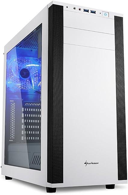 Sharkoon M25-W - Caja de Ordenador, PC Gaming, Semitorre ATX, Acrílico, Blanco: Sharkoon: Amazon.es: Informática