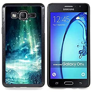 For Samsung Galaxy On5 O5 Case , Estrellas azules Montañas sueño - Diseño Patrón Teléfono Caso Cubierta Case Bumper Duro Protección Case Cover Funda
