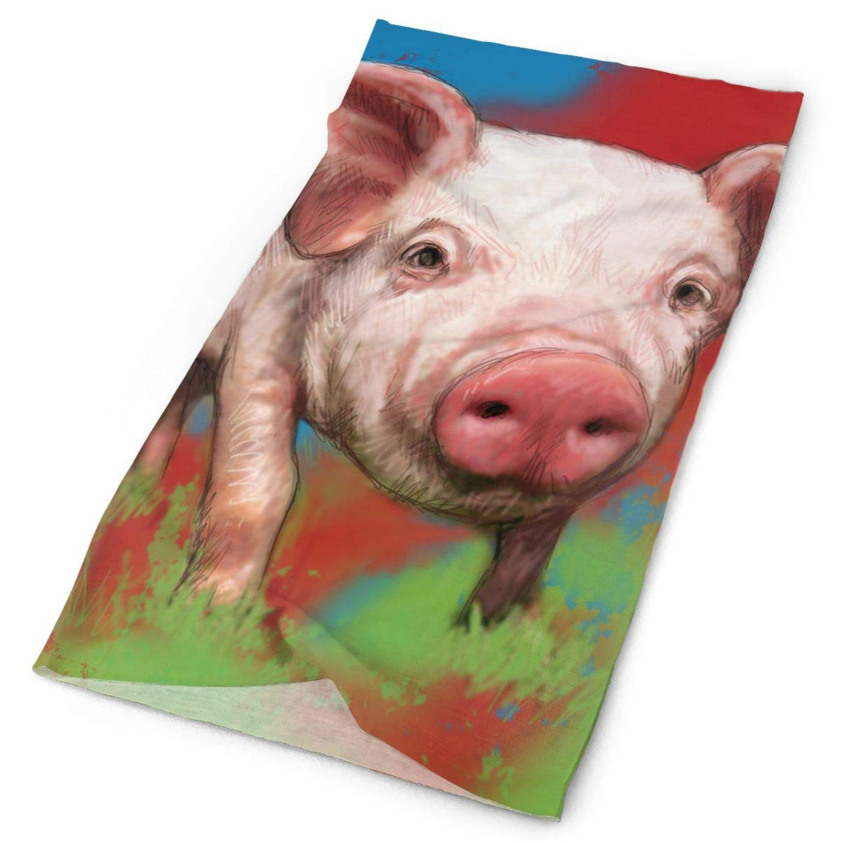 Pig Stylised Pop Modern Art Drawing Unisex Fashion Quick-Drying Microfiber Headdress Outdoor Magic Scarf Neck Neck Scarf Hooded Scarf Super Soft Handle