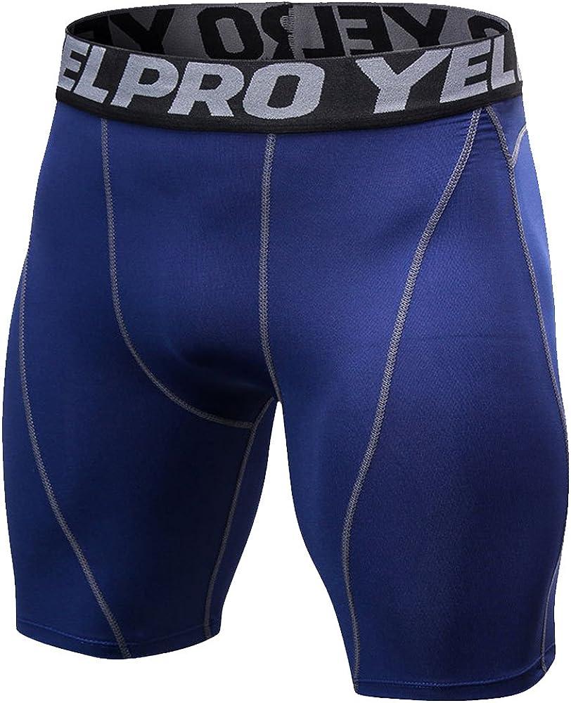 Decha Herren Kompressionshose Slim Fit Boxer Fitness Hose Kurz Compression Shorts Sporthose Funktionsunterw/äsche