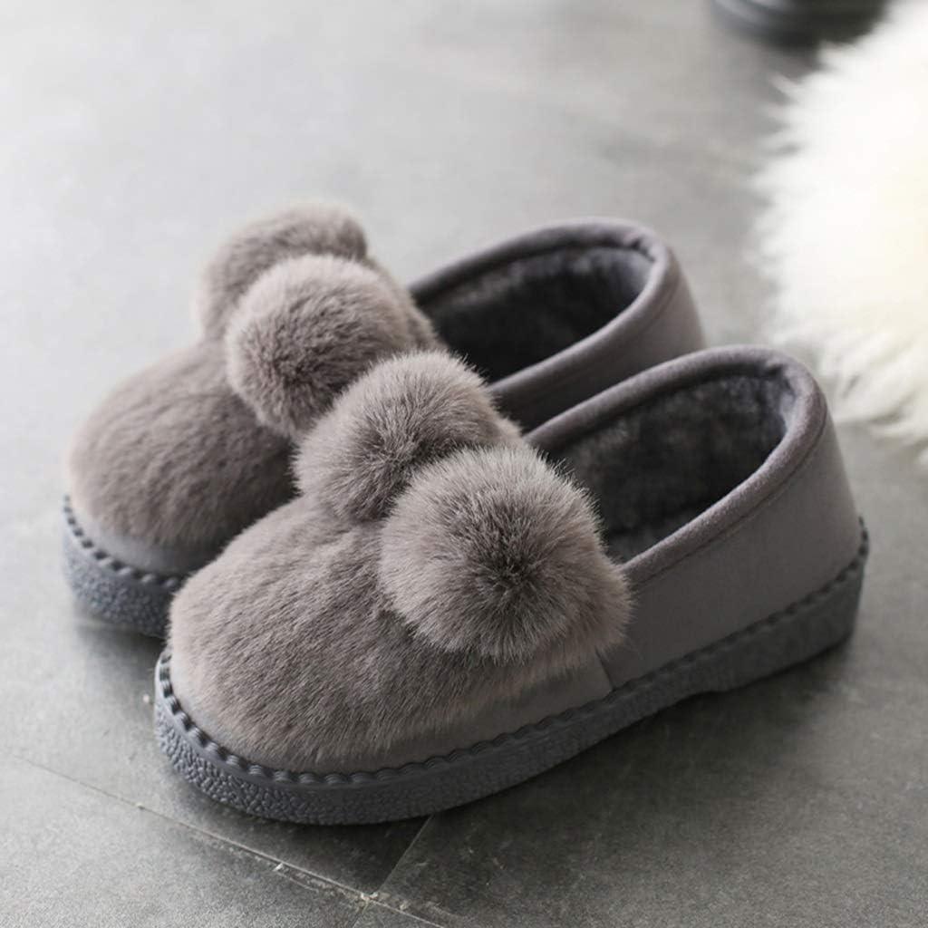 HUXIUPING Pantoufles en Coton Femelle M/âle Couple Automne Et Hiver Gar/çons Et Filles /À La Maison Glissement De Plancher Chaud