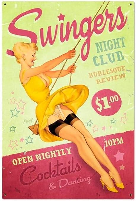 Amazon.com: BinLtd Swingers Club - Cartel decorativo de ...