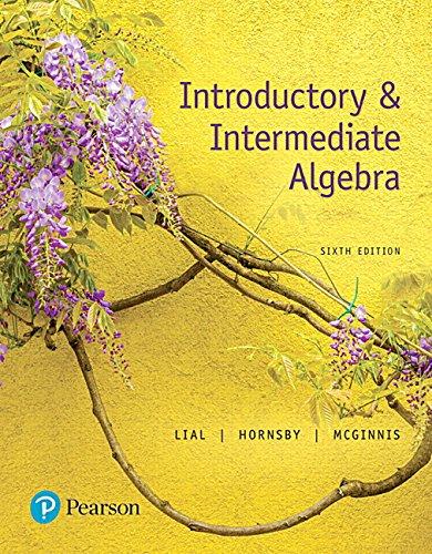 Introductory & Intermediate Algebra (6th Edition)