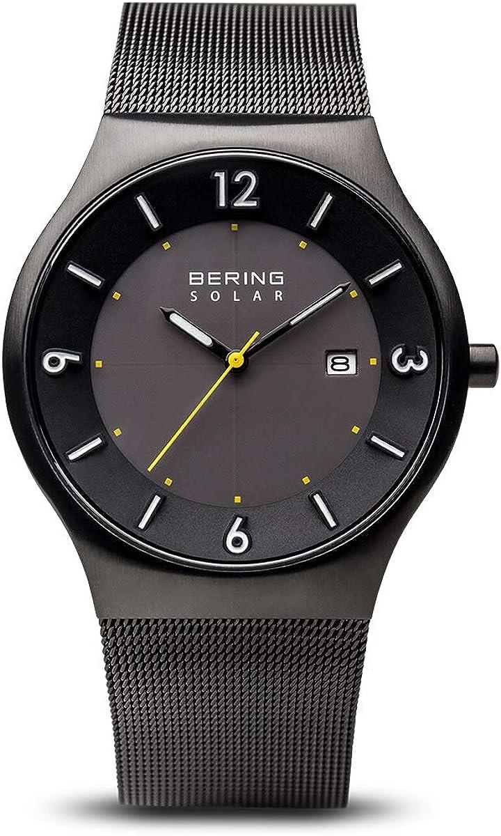 BERING Reloj Analógico para Hombre de Energía Solar con Correa en Acero Inoxidable 14440-223