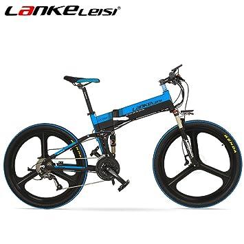 lankeleisi xt750 con configuración avanzada 26 pulgadas bicicleta eléctrica plegable integrado rueda 48 V Suspensión completa ...