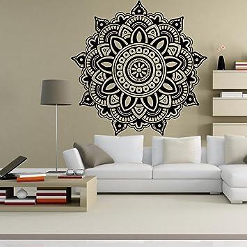 Aufkleber,Resplend Mandala-Blume Schlafzimmer Wandtattoos Entfernbar  Wandaufkleber Kreativität Modisch Wanddeko PVC Klebende Wandsticker Kunst  ...