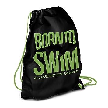 Bormioli nto Swim Cordón Resistente al Agua Mochila Bolsa de natación con Born to Swim Tiburón